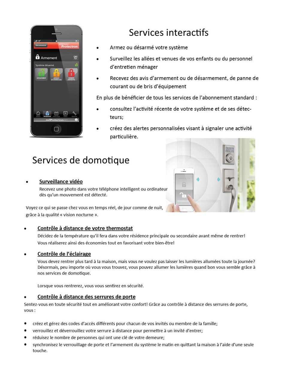 Services interactifs